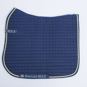 Max Saddle Dressage Pad Navy with gold pipping