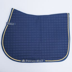 Max Saddle Pad Jumping/All purpose Navy with gold pipping